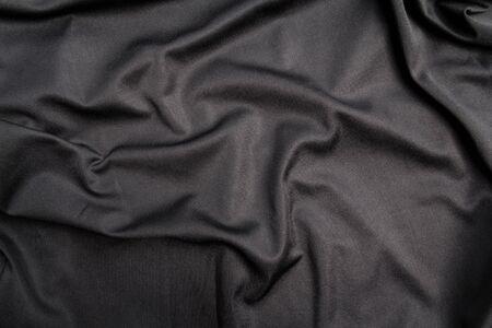 satiny cloth: Background of black cloth texture