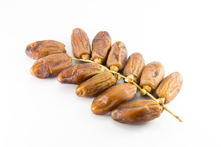 palm fruits: Date Palm on white background