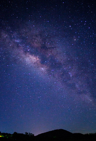 Milky way galaxy or Night sky with stars Stok Fotoğraf
