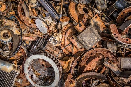 Pile of car parts