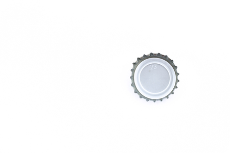 close up of a bottle cap on white background with copy space Stock fotó