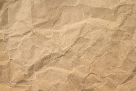 Brown crumple recycle paper background