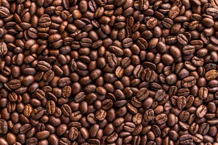 Close up of roasted coffee beans background Stok Fotoğraf - 147579822