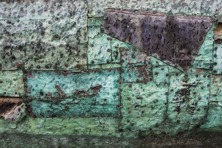 whaling: Copper sheated old whaling boat detail Stock Photo