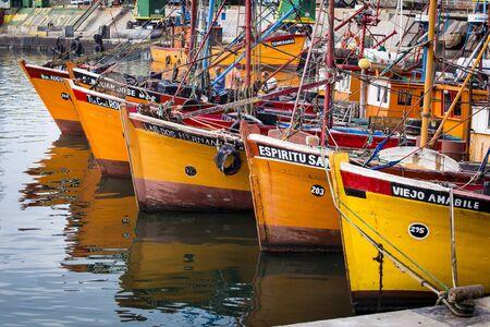 fishing fleet: Traditional fishing boats of Mar del Plata, Argentina