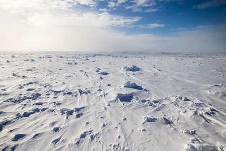 Vast frozen ocean at Antarctica taken onboard a research icebreaker Stok Fotoğraf