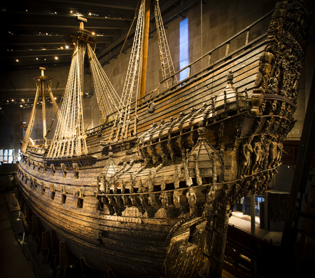 Naval ship Vasa that  capsized and sank in Stockholm in 1628