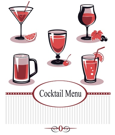 Summer Drinks Menu Vector