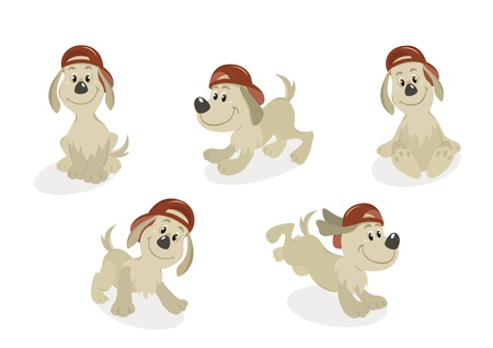 doggies: Cartoon Dog Puppy Mascot Set