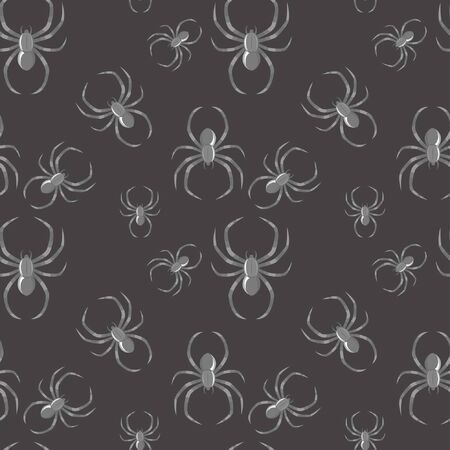Gothic background with seamless spider pattern Stock Vector - 13005805