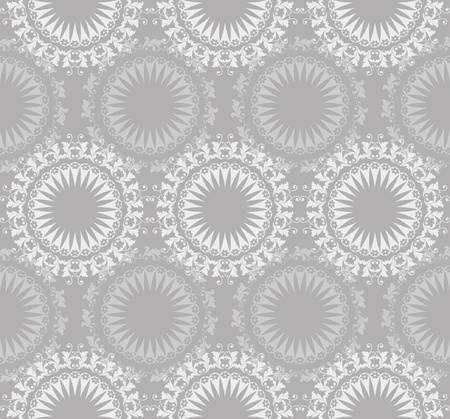 Retro background with seamless lace pattern and arabesque Vector
