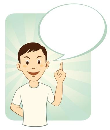Cartoon man with speech bubble Stock Vector - 13059676