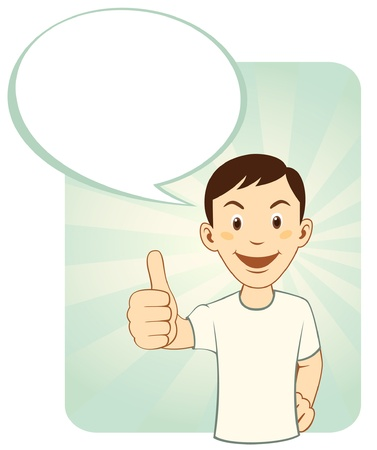 alright: Thumbs Up Man Illustration
