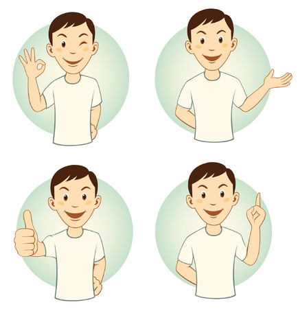 gesturing: Gesturing Cartoon Man Set