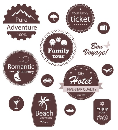 Travel and vacation emblems set Stock Vector - 13656952