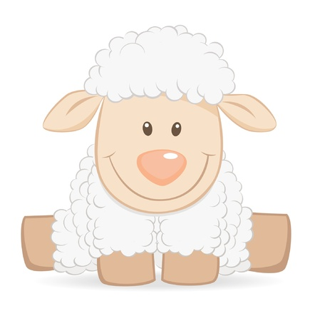 cartoon sheep: Cartoon baby sheep Illustration
