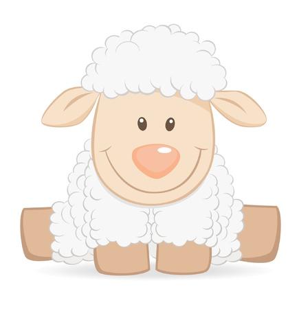 and sheep: Cartoon ovejas bebé