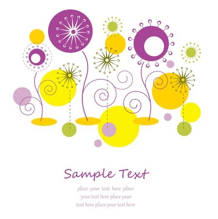Abstract autumn floral background with text space Stock Vector - 14264229