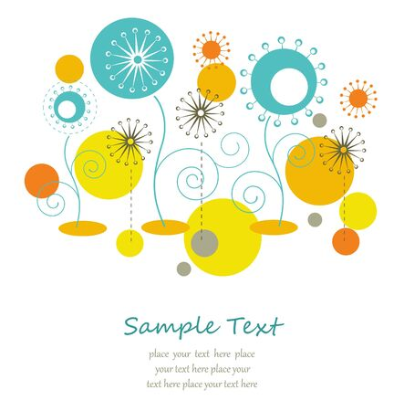 Abstract summer floral background with text space Stock Vector - 14264230
