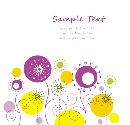 Autumn floral background with text space Stock Vector - 14264231
