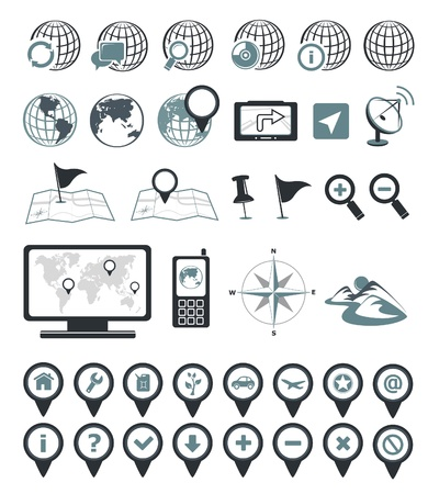 Location and destination icons Vector