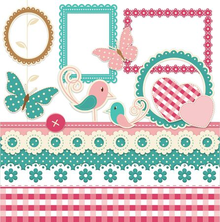 Vintage scrapbook elements Stock Vector - 14953477