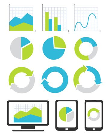 bar chart: Business chart and graph icons Illustration
