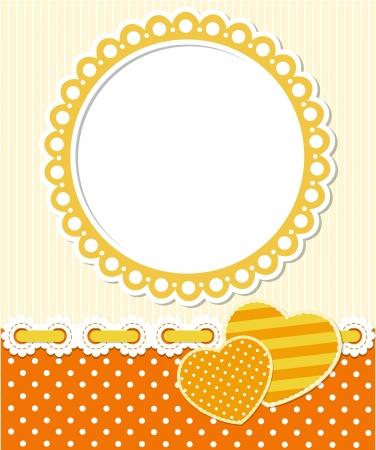 Retro style romantic scrapbook frame