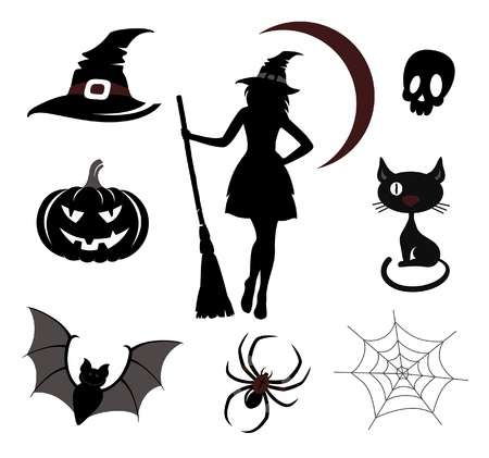 Halloween icons and emblems Stock Vector - 15495629