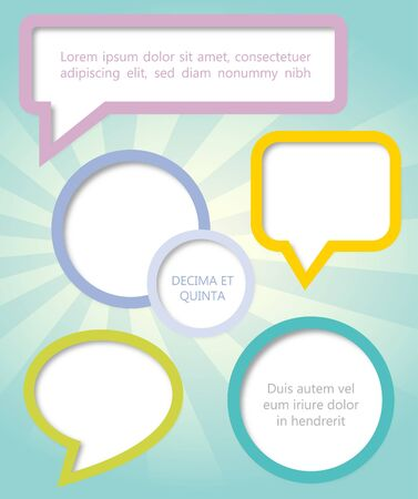 Paper clouds and speech bubbles Vector