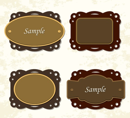 Vintage coffee and chocolate badges Stock Vector - 15524102