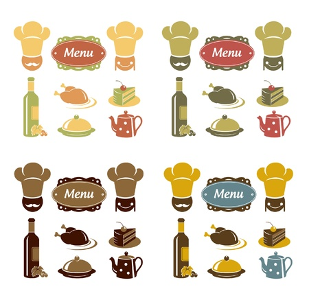 Restaurant menu icons set Stock Vector - 15389591