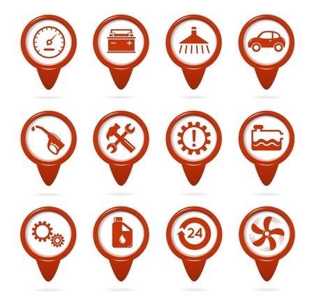 예비의: 기계공과 서비스 포인터 일러스트