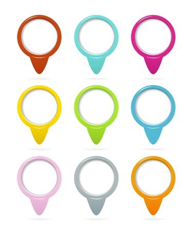 Location pointers set Stock Vector - 15717048