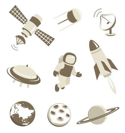 astronauta: Iconos de la tecnología espacial y el transporte aéreo establecido
