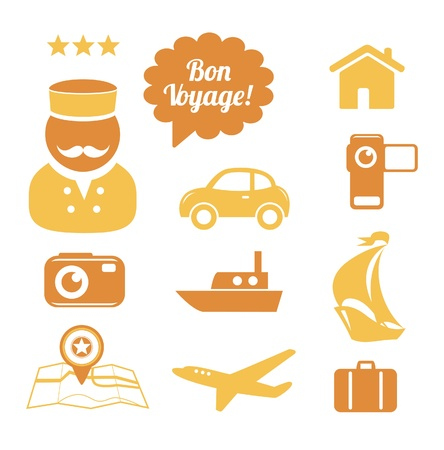 Travel icons set Stock Vector - 16234917