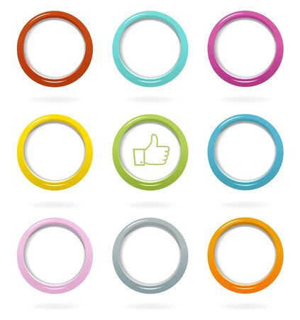 Colorful web buttons set Stock Vector - 16462680