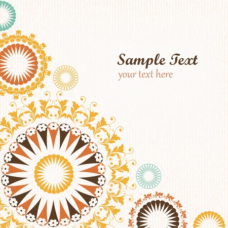 Floral pattern decorative background Stock Vector - 16853802