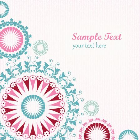 Floral decorative graphic background Stock Vector - 16904854