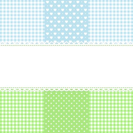 Lace border on fabric checked background Stock Vector - 17222528