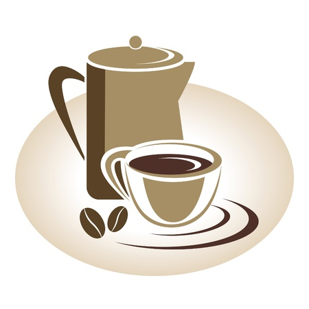Coffee menu icon Vector