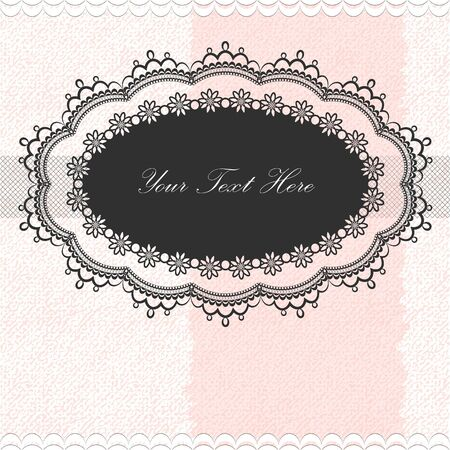 Vintage frame on textured background Vector