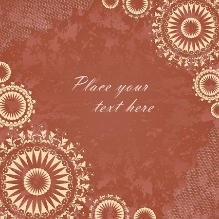Vintage banner with floral lace Stock Vector - 17517222