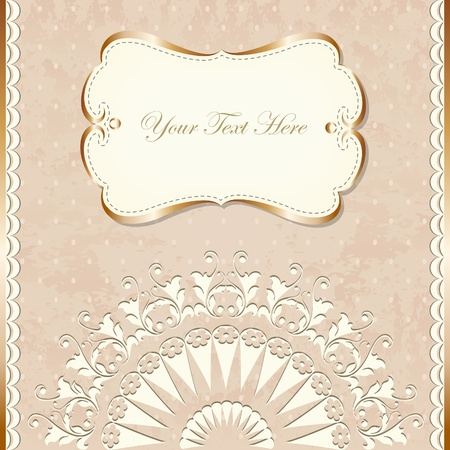 Romantic vintage border Illustration