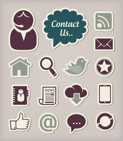 contact icon: Communicatie icons set