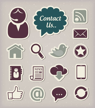 contact book: Iconos de comunicaci�n establecidos