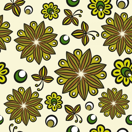 Seamless floral hand-drawn pattern Stock Vector - 17954136