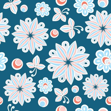 Seamless floral hand-drawn background Stock Vector - 17954137
