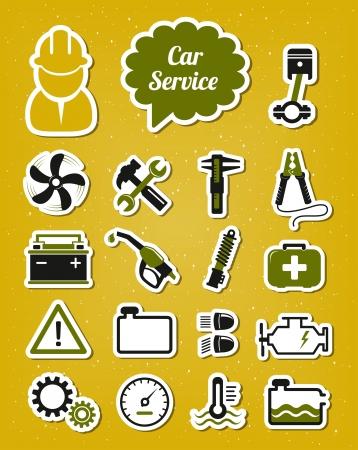 safety check: Iconos de coches de servicio Vectores