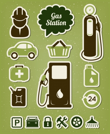 Gas station icons set Stock Vector - 18093326